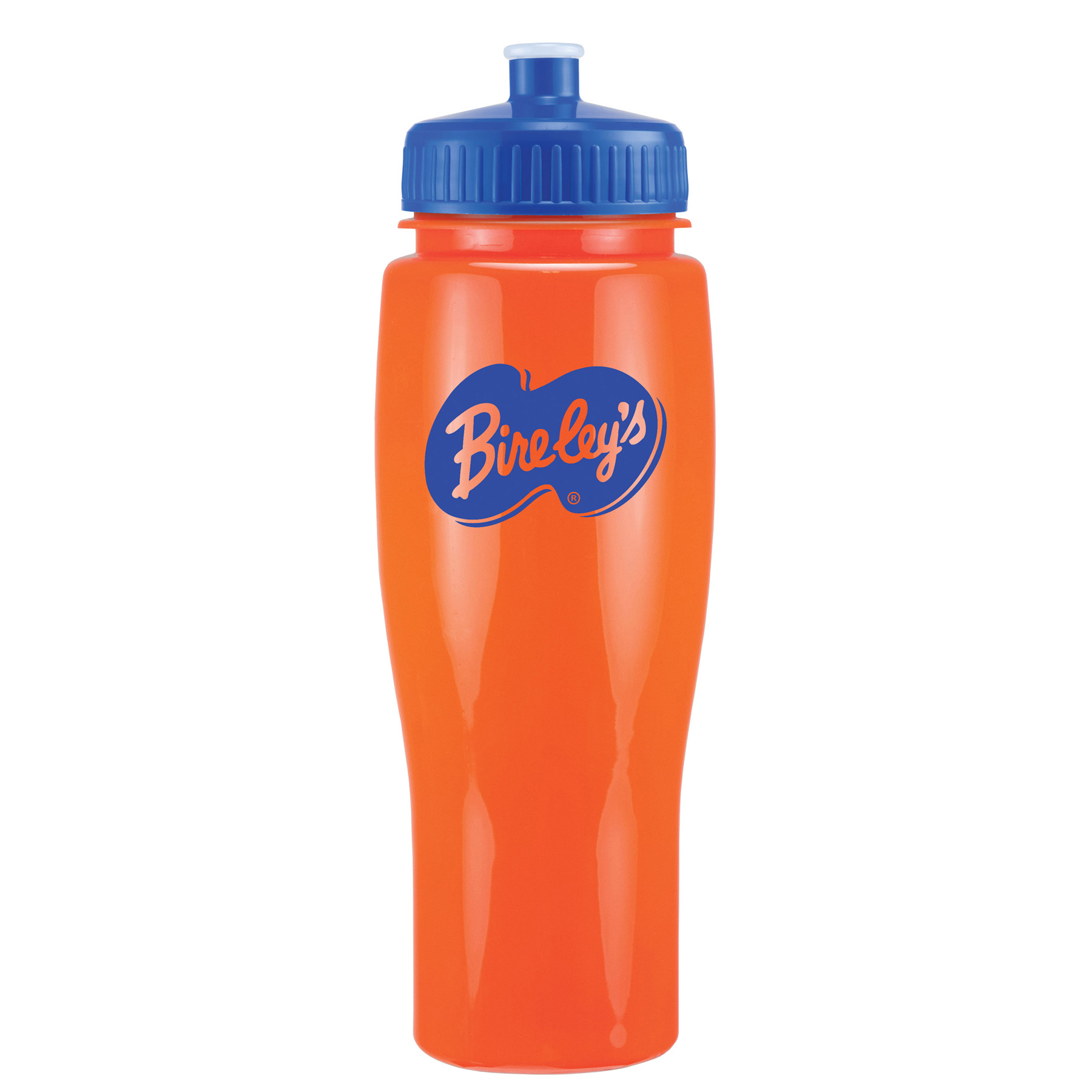 24 Oz. Contour Bottle w/ Push Pull Lid - Solid Colors, 373-K, One Colour Imprint