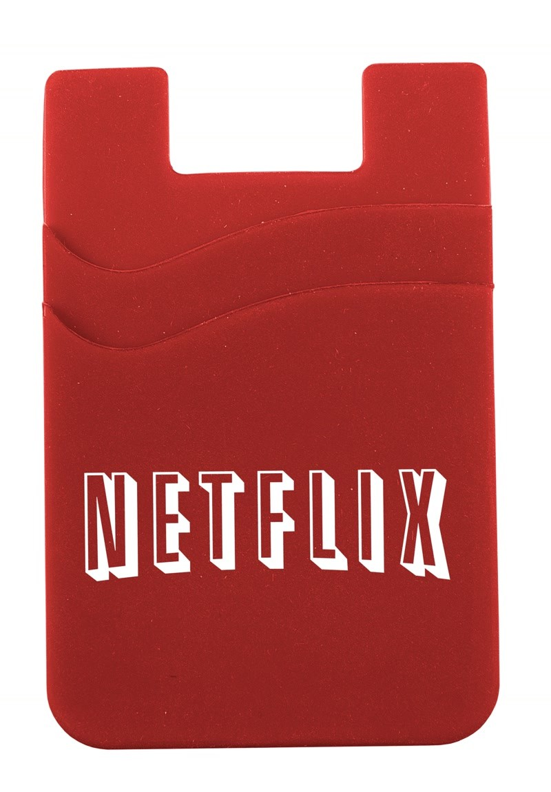 Silicone Cell Phone Sleeve with Adhesive Backing, 707-K, One Colour Imprint