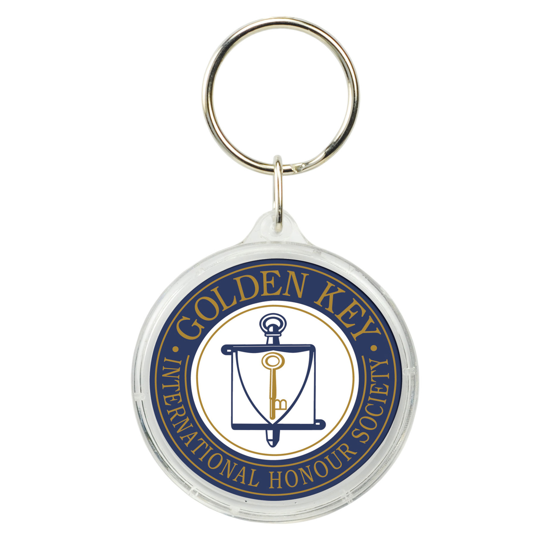 Round Crystal Key Tag, 108-K, Full Colour Imprint