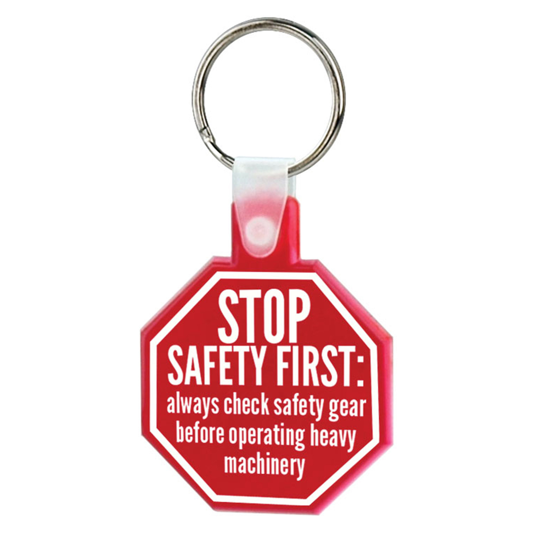 Soft Squeezable Key Tag (Stop Sign), 2136-K, One Colour Imprint