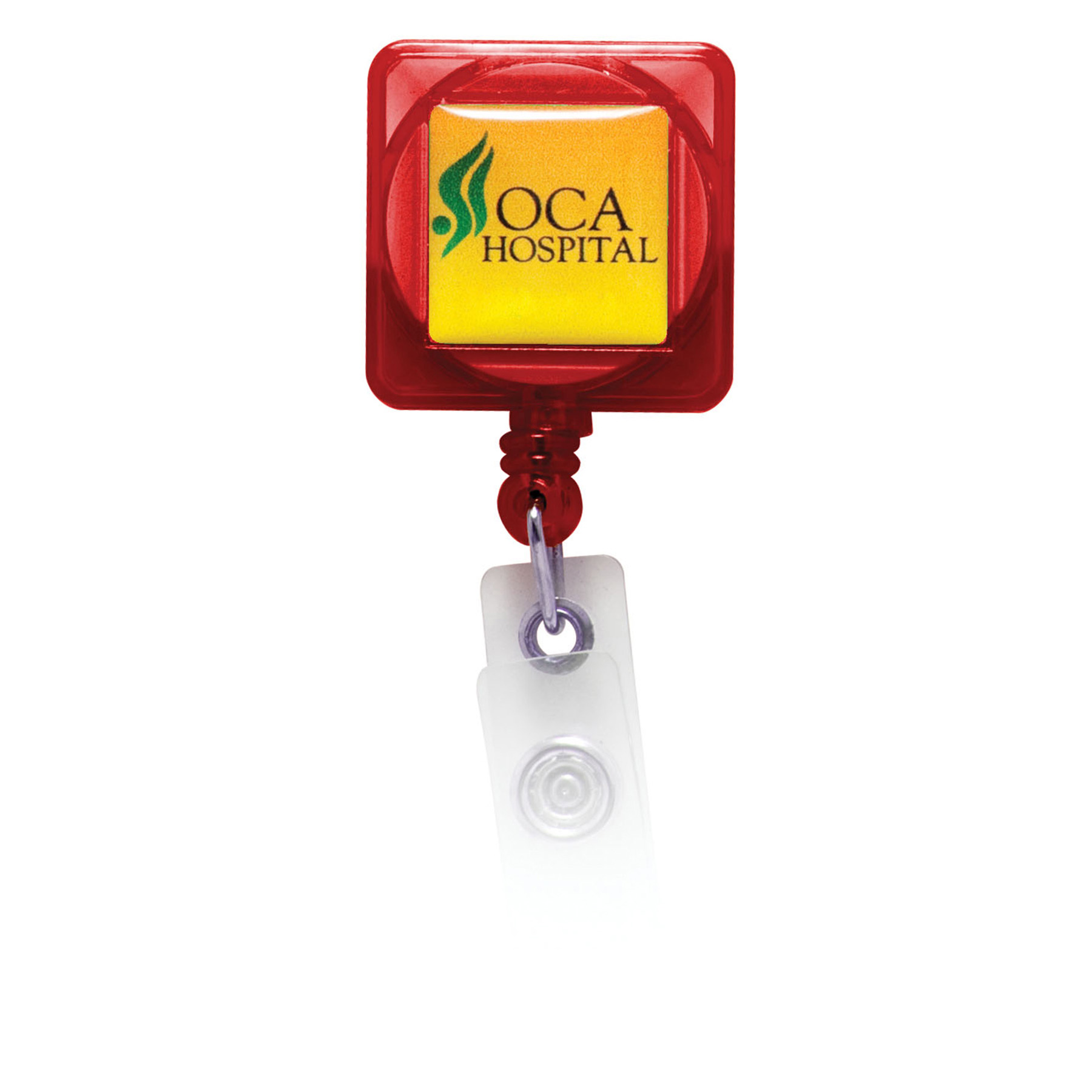 Retractable Badge Holder with Full Color Process Domed Imprint, BH103-K, Full Colour Imprint