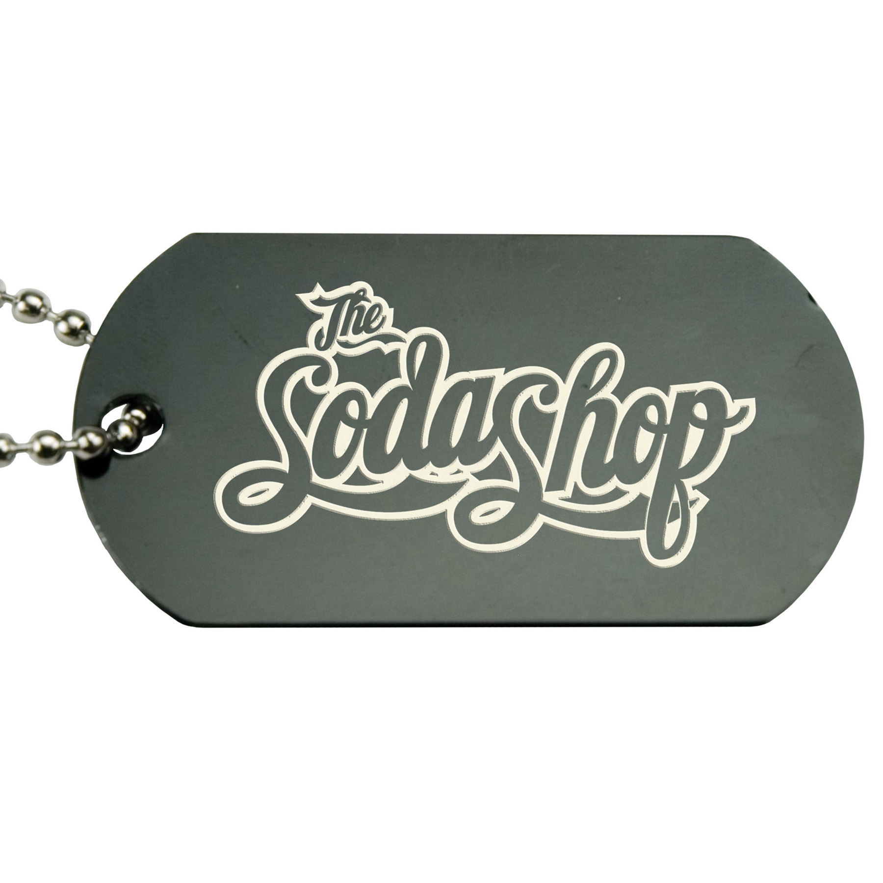 Anodized Aluminum Dog Tag, 140-K, Laser Engraved Logo