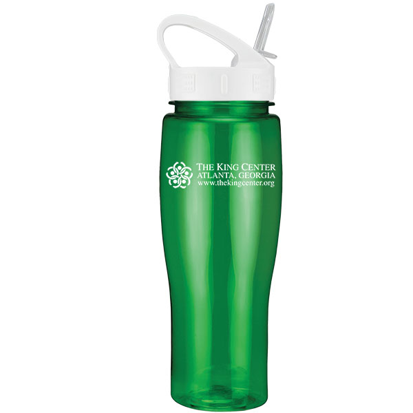 24 Oz. Contour Translucent Bottle w/ Sport Sip Lid and Straw, 0369S-K, One Colour Imprint