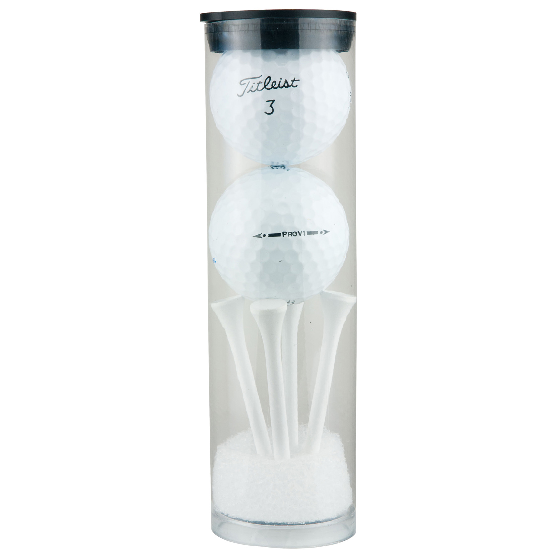 Two Ball Value Golf Gift Tube with Domed Imprint, 665-K, One Colour Imprint