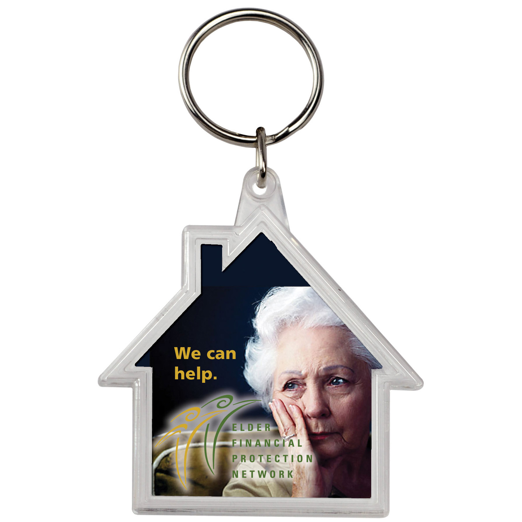 House Crystal Key Tag, 109-K, Full Colour Imprint