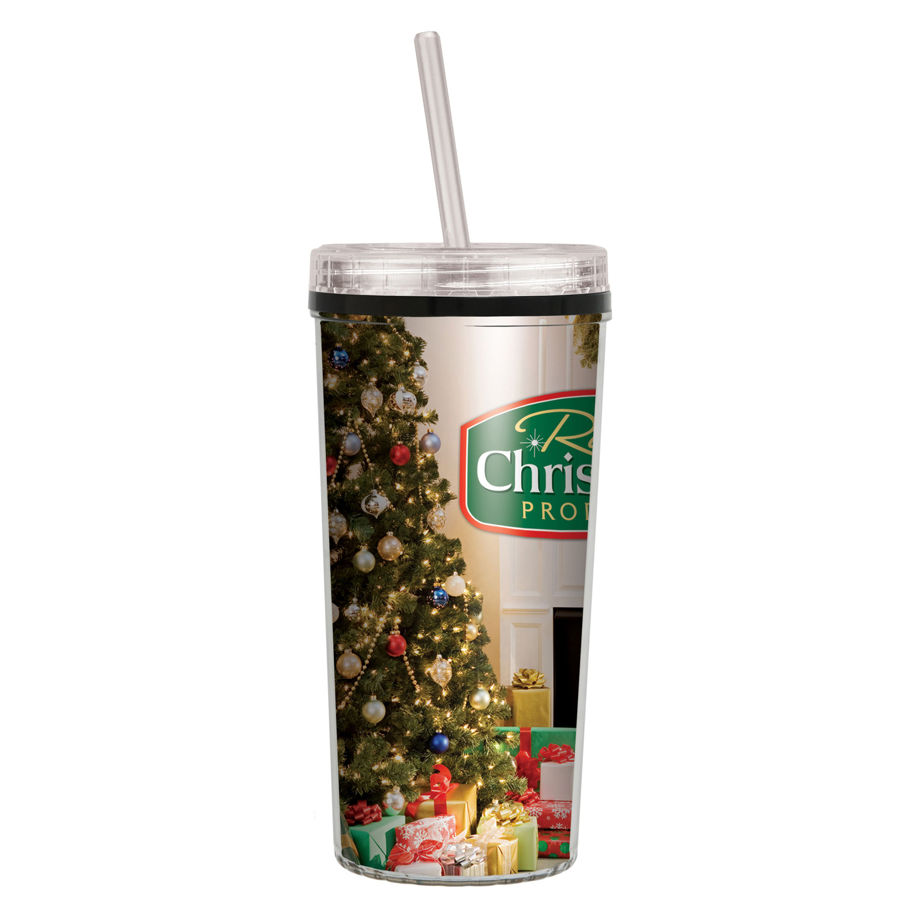 16 Oz. Niagara Insulated Tumbler with Full Color Imprint Straw Lid, 348-K, Full Colour Imprint