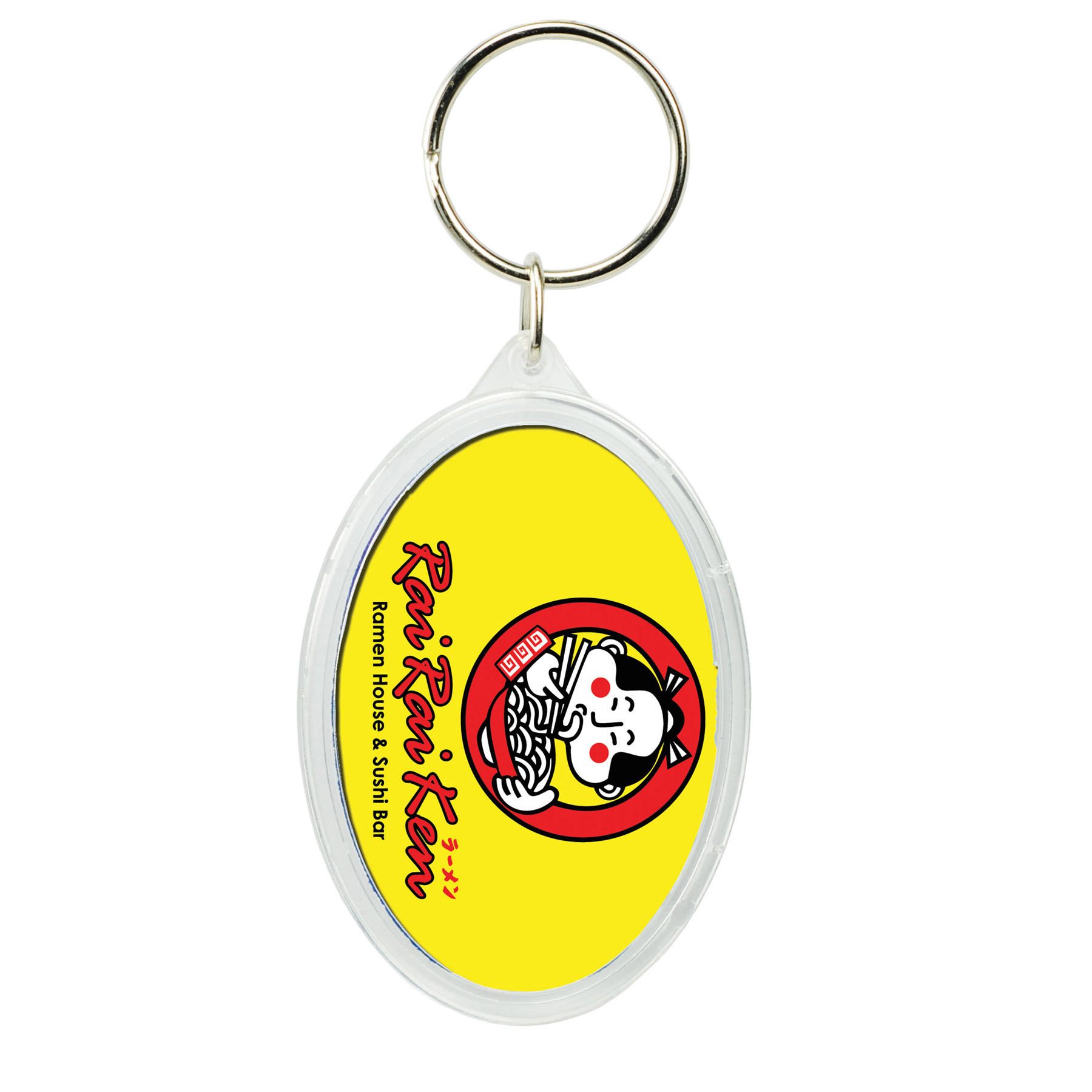 Oval Crystal Key Tag, 318-K, Full Colour Imprint