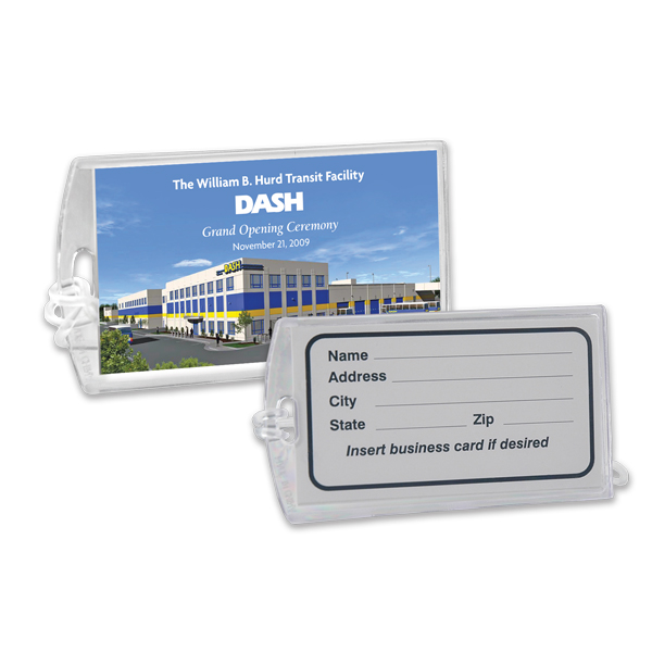 Executive Clear View Luggage Tag, 311-K, Full Colour Imprint