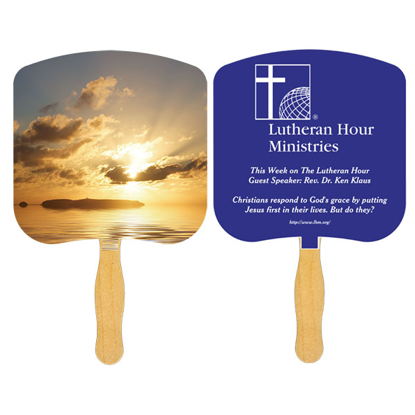 Religious Hand Fan/ Sunrise, FR109-1-K, One Colour Imprint