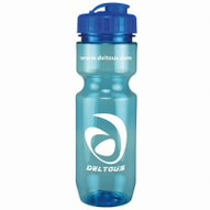 22 Oz. Translucent Bike Bottle w/ Flip Top Lid, 317-K, One Colour Imprint