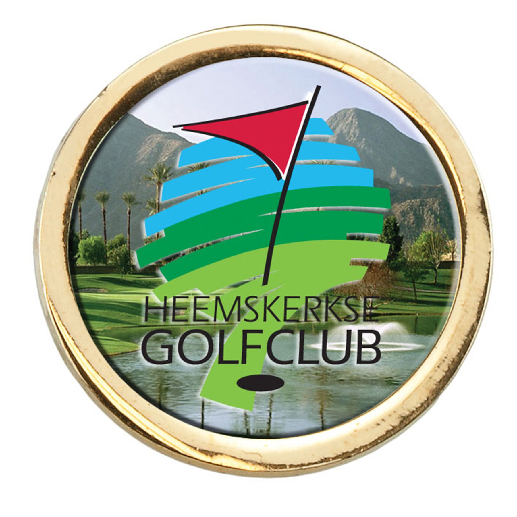 Domed Metal Ball Marker, 641-K, Full Colour Imprint