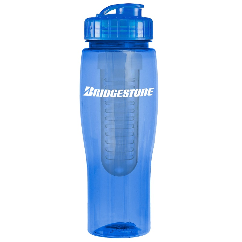 24 Oz. Contour Bottle with Infuser, 0370I-K, One Colour Imprint