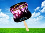 Custom HAND FAN - 4-Color, Full Bleed, Gloss Finish, 1-Side in Pricing