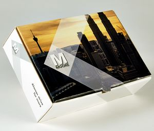 PRESENTATION & MAILER BOX (9.5 x 6.5 x 3) Full Color w/ High Gloss Film Laminate Finish