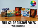 Custom CUSTOM PRESENTATION & MAILER BOXES (20 Stock Sizes) Full Color w/ High Gloss Film Laminate Finish