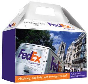 GABLE BOX ~ Custom Full Color Donut Style Box w/ Handle and Business Card Slot (FREE SETUP)