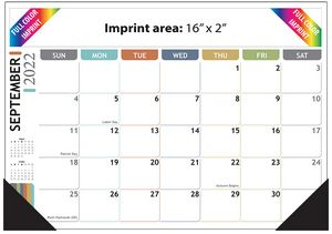 Full Color Desk Pad Calendar - 17x12