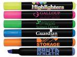 Liqui-Mark® Brite Spots® Black Barrel Highlighter w/Broad Chisel Tip (Full-Color Decal)