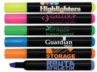 Brite Spots Black Barrel Jumbo Fluorescent Highlighter w/Full Color Decal