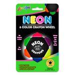 Liqui-Mark® Crayo-Craze® Neon 6-Color Crayon Wheel