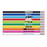 Custom #2 HB Lead Pencil w/Classic Barrel Colors & Pink Eraser