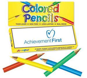 Colored Pencil Box - 4 Pack of Mini Pre Sharpened Colored Pencils