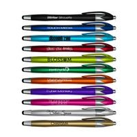 Liqui-Mark® iWriter® Silhouette Stylus & Retractable Ballpoint Pen (Black Ink)