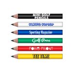 Mini Round Golf Pencils w/Classic Barrel Colors