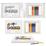 Custom U-COLOR Canvas Art + 8 Color Marker Set