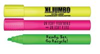 XL Jumbo Fluorescent Highlighter w/Full Color Decal