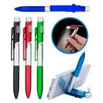Custom 3-In-1 Ballpoint Pen w/, Phone Stand and LED Light for Convenient Night Writing