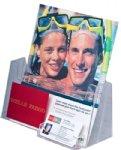 Single Pocket Angled Holder w/ Business Card Holder