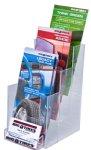 Custom Angled Display W/ Business Card Holder (4 1/8