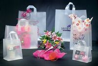 """Shopping Style Bag w/ Clear Soft Loop Handle (8""""x4""""x11"""")"""