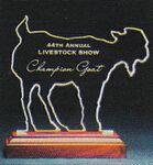 Custom Gracious Goat Award on Rosewood Base - Acrylic (7 3/4