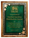 Custom American Black Walnut Plaque w/Green Seeing Stars Series Plate (10