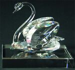 Custom Swan Award on an Clear Crystal Base - Optic Crystal