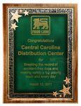 Custom American Black Walnut Plaque w/ Green Seeing Stars Series Plate (12