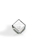 Custom Standing Beveled Diamond Cube Award - Optic Crystal (2 7/8