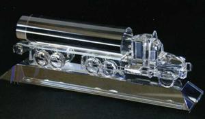 Oil Truck Award on a Crystal Base - Optic Crystal (2 3/16