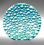Custom Aqua Blue Raindrop Preservation Award - Recycled Glass