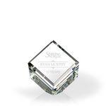 Custom Standing Beveled Diamond Cube Award - Optic Crystal (4 3/4