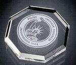 Custom Opulent Octagon Paperweight - Jade Glass (3/4