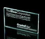 Custom Business Card Paperweight - Jade Glass (1/4