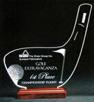 Golfer's Dream Award on a Rosewood Base - Acrylic (5 3/8