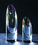 Custom Cylindrical Colors Award - Optic Crystal (3 3/8