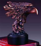 Custom Diligent Eagle's Head Award. 7-1/2