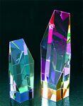Custom Hexagon Hues Award - Optic Crystal (3 3/8