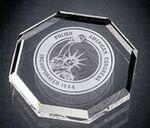 Custom Opulent Octagon Paperweight - Jade Glass (1/2