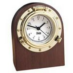 Custom Nautical Desk Clock/Elegantly Finished North American Hardwood